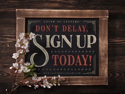 Lettering Library - Sign up!