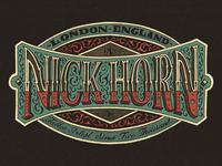 Nick Horn Tattoo