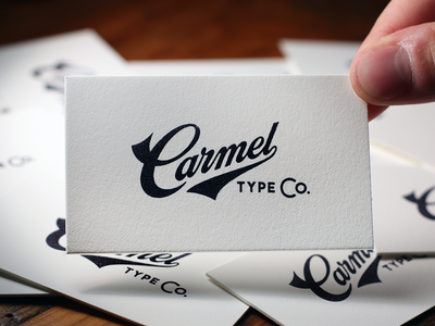 Carmel Type Co. Business Cards photography lettering typography paper ephemera stamp ink stationery business cards
