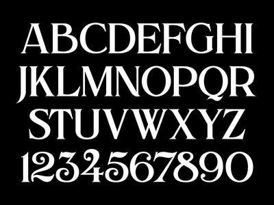 Alchemist - Uppercase & Numerals