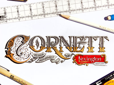 New Job - Cornett agency kentucky lexington sign painting design hand lettering lettering cornett