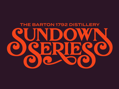 Sundown Series retro lockup logotype logo titling headline display lettering typography type