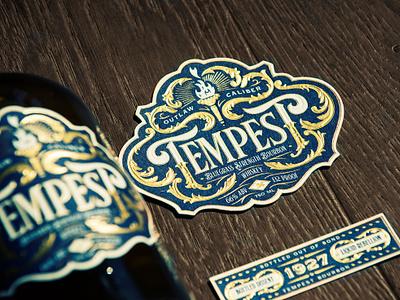Tempest - Bluegrass Strength Bourbon Whiskey branding foiling letterpress bourbon whiskey packaging label liquor spirits