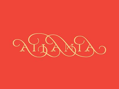 Atlanta retro elegant atlanta flourish swash script lettering typography type