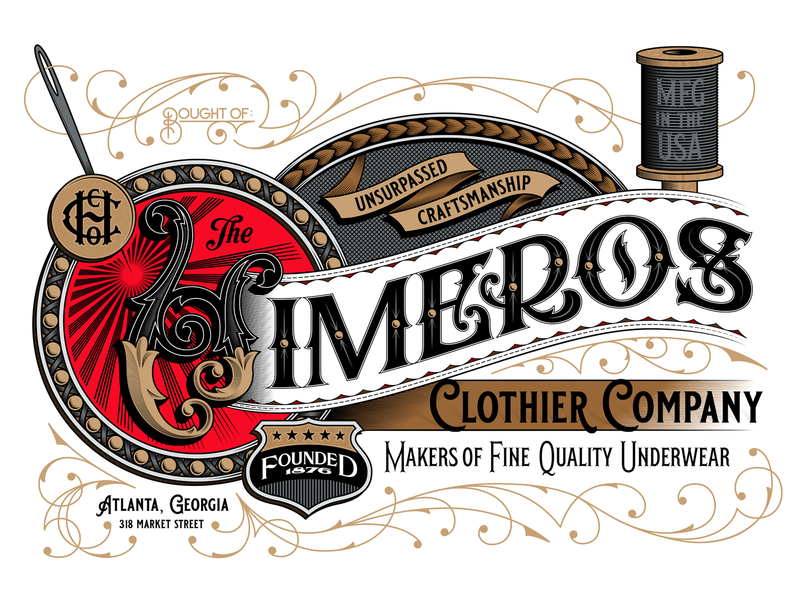 Himeros - Color Version decorative ornamental clothing apparel victorian ornamentation flourish vintage type typography lettering