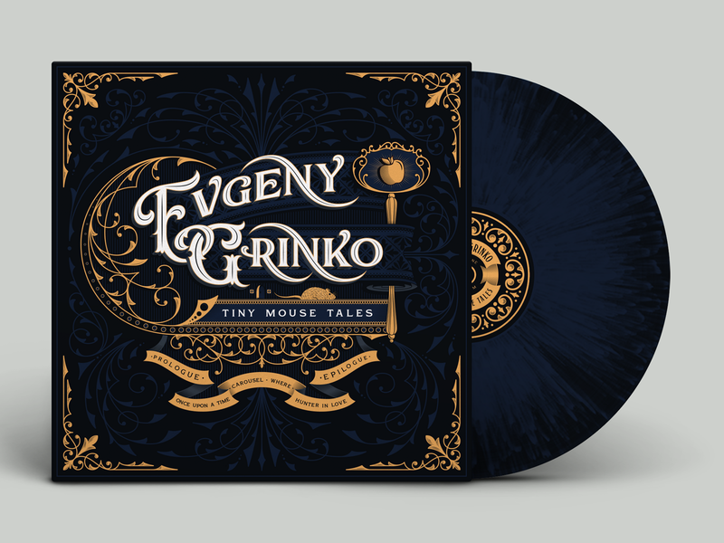Evgeny Grinko - Tiny Mouse Tales - Vinyl Jacket ornamental cover book music record vinyl album logotype lettering typography