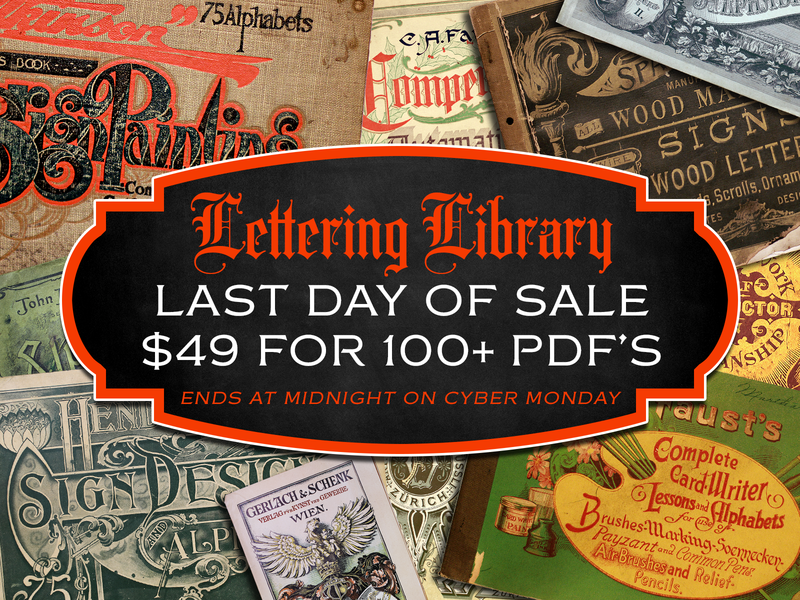 Lettering Library - Final Day of Sale books ornamental monogram penmanship sign painting reference typography lettering