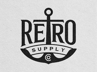 Retro Supply Co. Lockup lockup branding supply retro anchor nautical logotype logo typography lettering