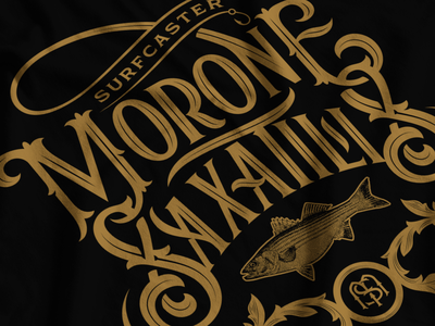 Morone Saxatilis fish ornamental fishing ligature shirt lockup logotype lettering typography type