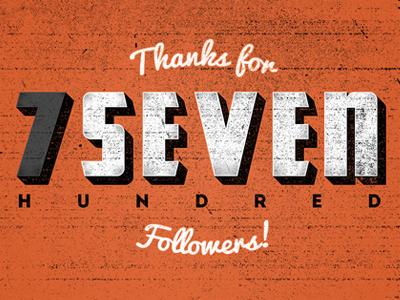 700 type typography 700 thanks