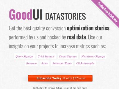 GoodUI Datastories layout