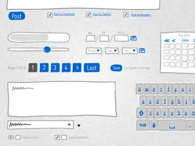 ISN Widgets & Buttons ui sketch buttons widgets