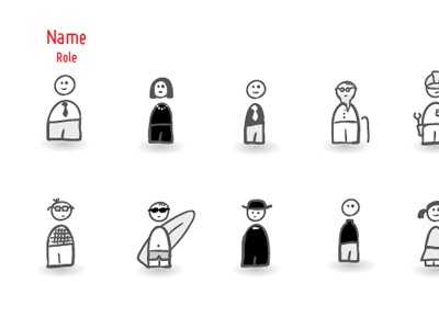 Micro-Personas Progress personas sideproject ux sketch sketching people icons