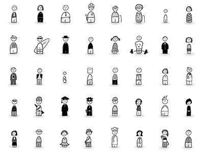 MicroPersonas The Full Set persona sketch icons