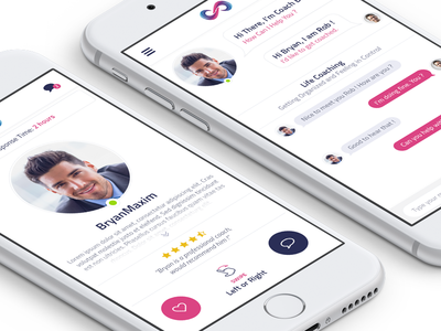 Coaching App Concept simple clean flat ios-app app-design coaching