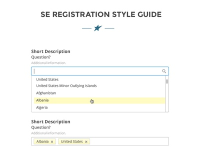 Registration Style Guide