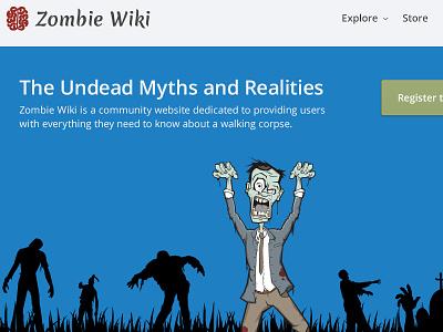 Zombie Wiki zombie wiki brain landing page open sans