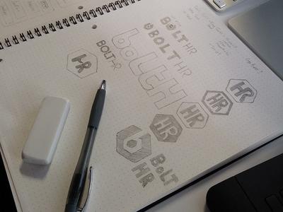 BoltHR Logo Sketch Ideas
