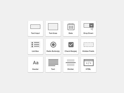 Form Builder Elements form builder card icons template elements input