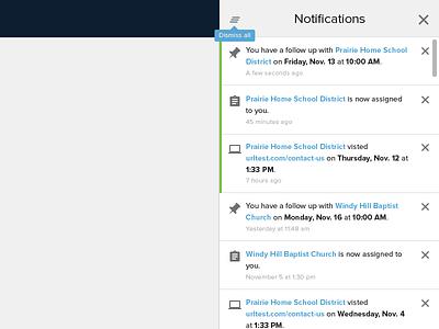 Notification Panel tooltip crm proxima nova icons panel notification