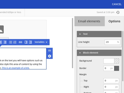 Birchhr Email Template Editor Side Panel applicant tracking system ats editor template email birchhr