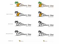 Numero Uno Beach Hotel Logo Lockup