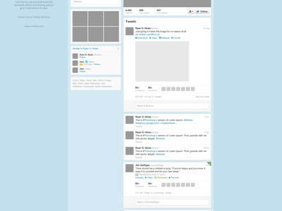 Twitter Free PSD Template twitter psd template ui free freebie