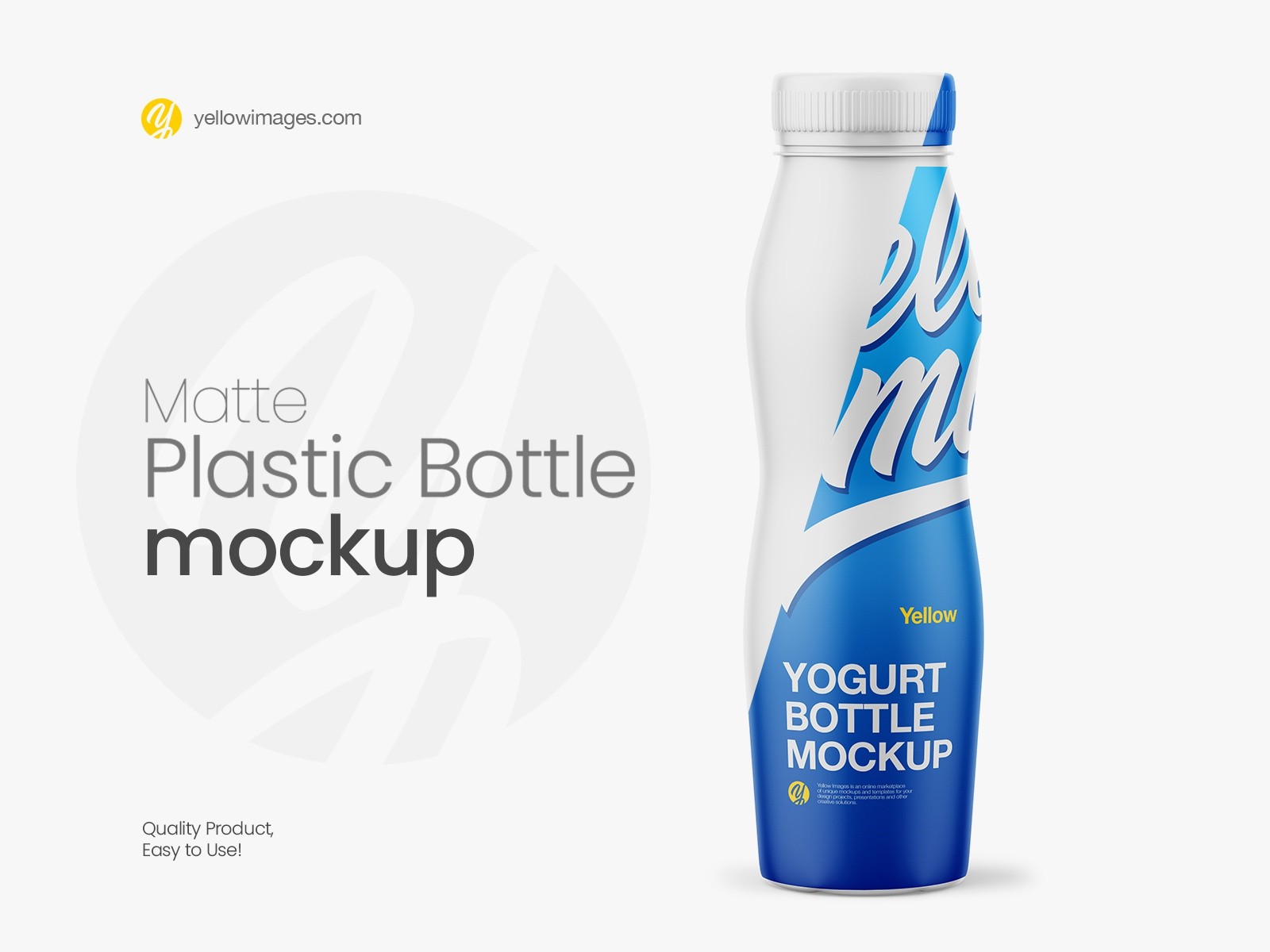Download Matte Plastic Bottle Mockup Front View By Dmytro Ovcharenko On Dribbble PSD Mockup Templates
