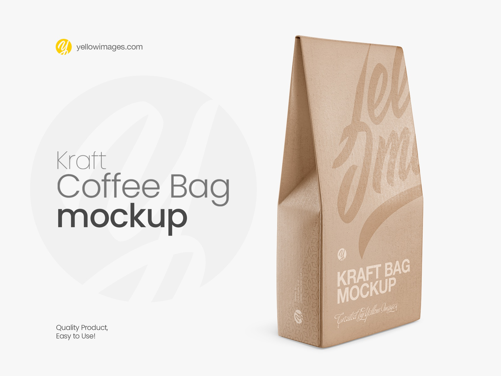 Download Kraft Matte Bag Mockup Half Side View By Dmytro Ovcharenko On Dribbble PSD Mockup Templates
