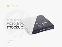 Textured Pizza Box Mockup - Halfside View