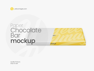 Paper Chocolate Bar Mockup - Front View