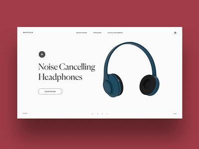 Headphones Configurator 3D Experiment motion design interaction ui ecommerce motion render 3d headphones