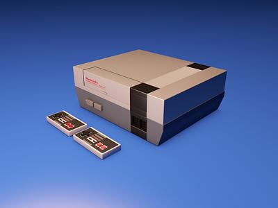 Nintendo Entertainment System  3D SHOT nes model cinema4d 80s 3d render