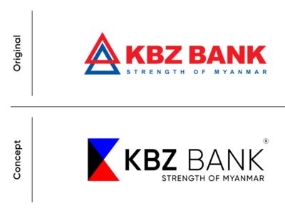 KBZ BANK concept logo