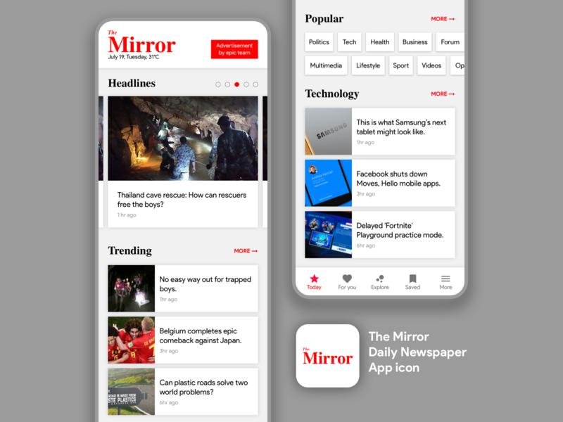 The Mirror Mobile App Concept