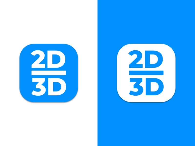 2D/3D app icon
