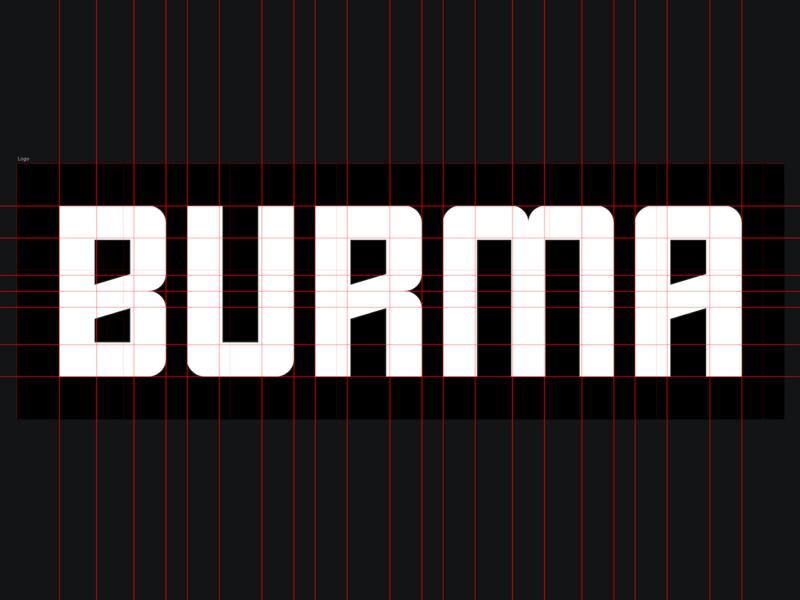 Burma Wordmark Grid