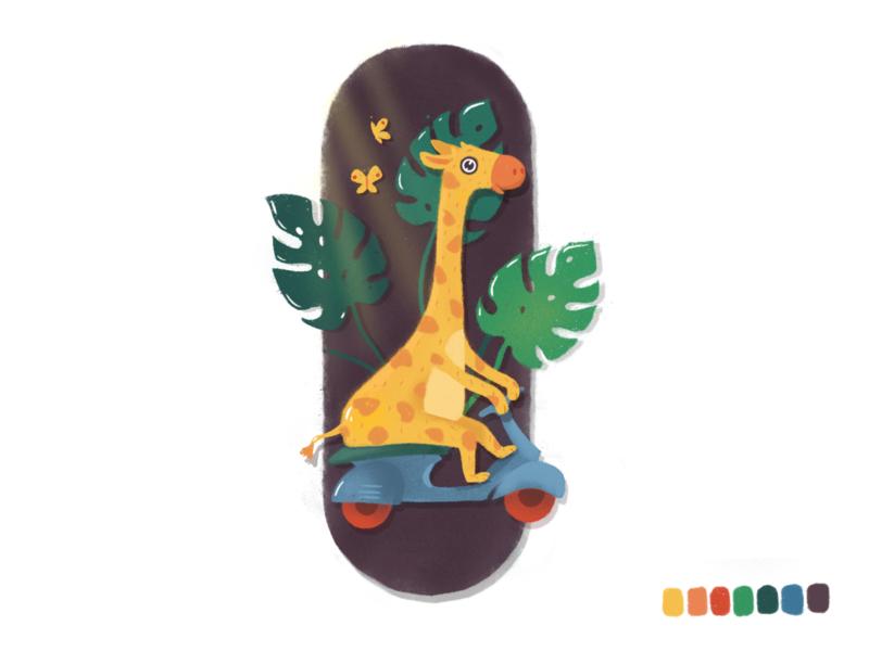 Giraffe illustration giraffe procreate vector illustration character design 2d illustration