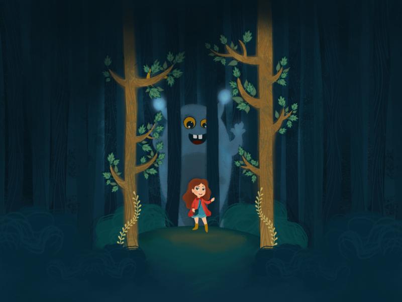 Monster vectorart vector illustrations girly monster procreate fairytale 2d character design illustration
