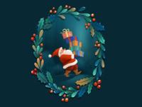 Christmas Card Illustration design illustration art illustration xmas xmas card detail draw drawing vector illustration illustrations santa ui christmas vectorart character design vector procreate 2d