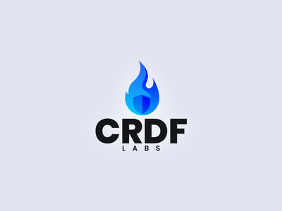 CRDF Labs logo flame icon security branding identity logo