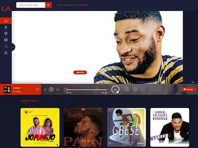 laoluayefele.com - Site is Live artist music web design responsive design website design