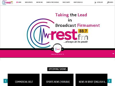 Crest887fm.com - Website is Live radio station website design web responsive design design