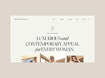 Rino & Pelle clothing beauty webdesign web typography serif minimal clean women pastel slider website fashion