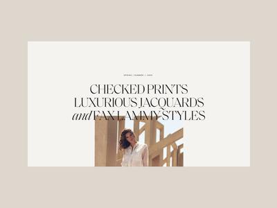 Rino & Pelle—What She's Wearing minimal clean interface website webdesign web typogaphy serif skirt smooth animation luxury women fullscreen fashion