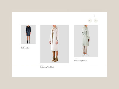Rino & Pelle—Slider luxury contemporary interface animation webdesign serif clean minimal slider design ui web website fashion brand women slider fashion