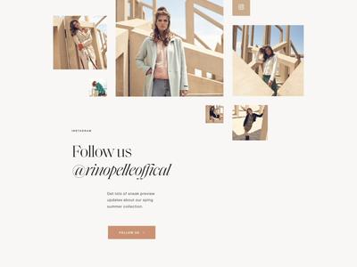 Rino & Pelle—Instagram serif webdesign ui website web animation smooth luxury elegant collage grid lifestyle woman women scroll animation zoom instagram fashion