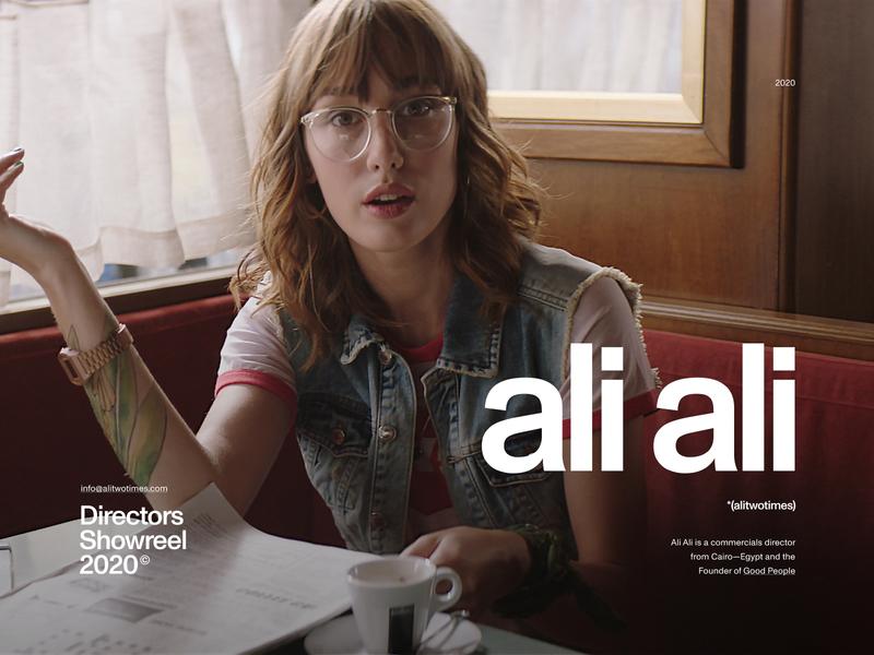 Ali Ali—(Alitwotimes) header hero ui director website portfolio webdesign web minimal clean swiss commercial video film filmmaker movie photography art