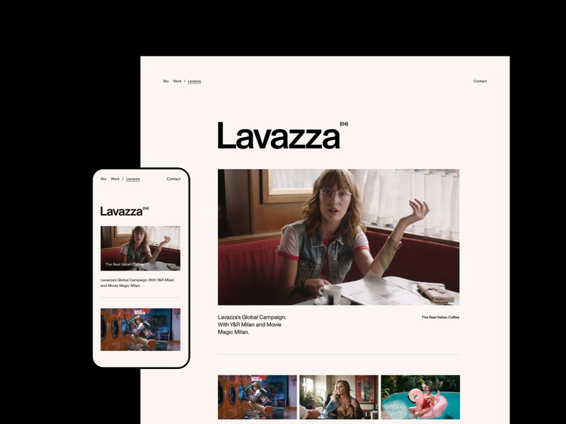 Ali Ali—Details campaign exo ape ui typography grid movie film lavazza clean portfolio director video grotesk swiss sans serif webdesign website web minimal