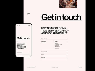 Ali Ali—Details sans serif portfolio director video mobile contact film typogaphy swiss grid interface ui clean minimal web website webdesign